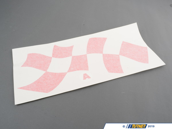 T#4168 - 51148014500 - Motorsport Flag Decal Set - E36 Coupe - Turner Motorsport - BMW