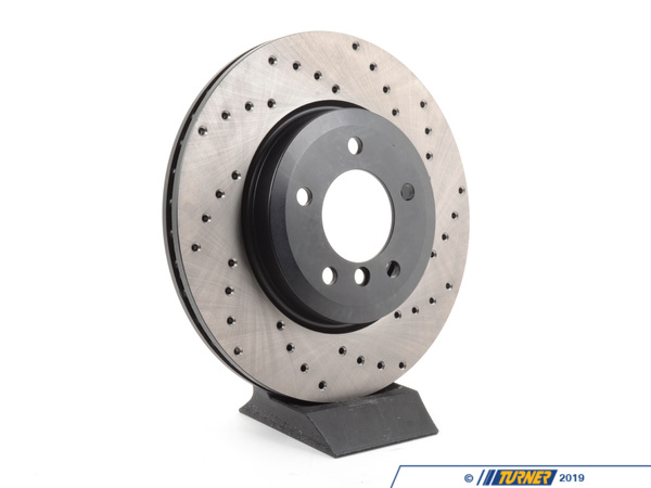 T#300252 - 128.34052L 071 - E46 330, Z4 3.0si Front Left Centric Cross-Drilled Rotor - Centric -