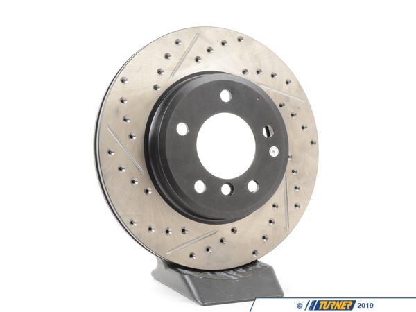 Centric E46 325 all, E46 328 all, E46 323iC/iT, Z3 3.0, Z4 3.0i (not si) RIGHT FRONT SPORTS DRILLED/SLOTTED ROTOR 127.34048R 539