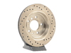 T#300237 - 128.34034R 659 - E34 540/M5 (VENTED) RIGHT REAR SPORTSTOP CROSS DRILLED ROTOR - Centric -