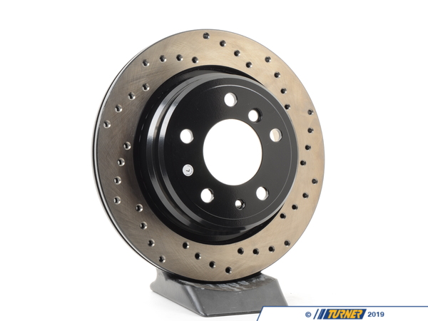 T#300236 - 128.34034L 659 - E34 540/M5 (VENTED) LEFT REAR SPORTSTOP CROSS DRILLED ROTOR - Centric -