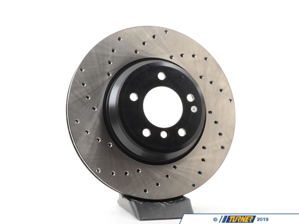 T#300284 - 128.34093R 729 - Cross-Drilled Brake Rotors - Front Right - E9X 335i/335Xi - Centric -