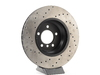 T#300283 - 128.34093L 729 - Cross-Drilled Brake Rotors - Front Left - E9X 335i/335Xi - Centric -