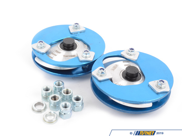 T#5807 - 193316K2 - Front Adjustable Camber/Caster Plates - E24, E28, E30, E34 - KMAC Stage 2 Street/Track - KMAC -
