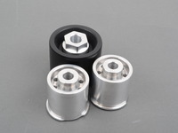 Rear Differential Mounts - Solid Aluminum/Delrin Race - E82, E9X, F22, F3X