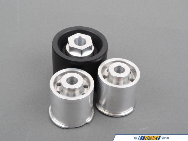T#1571 - TDR9080SD1 - Rear Differential Mounts - Solid Aluminum/Delrin Race - E82, E9X, F22, F3X - These Turner Motorsport solid differential mounts are for the E90/E92 (NON M) 3 series and E82 1 series, and are designed around many racing regulations. Replacing your differentials rubber mounts with this kit will result in a snappier feel when cornering and better suspension performance. You save money by never having to replace the stock rubber mounts that fail due to old age and fatigue. These bushings are CNC machined in the USA and made with high-grade materials.These solid differential bushings/mounts fit the following BMWs:2008-2012  E82 BMW 128i 135i2014+  F22 BMW 228i 228iX M235i M235iX2006-2011  E90 BMW 325i 325xi 328i 328xi 328i xDrive 330i 330xi 335d 335i 335xi 335i xDrive - Sedan2006-2012  E91 BMW 325xi 328i 328xi 328i xDrive - Wagon2007-2013  E92 BMW 328i 328xi 328i xDrive 335i 335is 335xi 335i xDrive - Coupe2007-2013  E93 BMW 328i 335i - Convertible2012+ F30 BMW 320i 320iX 328i 328iX 335i 335iX - Sedan2012+ F31 BMW 328i 328iX - Wagon2014+ F34 BMW 328i 328iX 335iX - Gran Turismo2014+ F32 BMW 428i 428iX 435i 435iX - Coupe2014+ F33 BMW 428i 428iX 435i 435iX - Convertible - Turner Motorsport - BMW