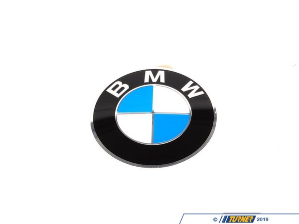 T#8244 - 36136767550 - Wheel Emblem - Adhesive Backed - 64.5mm  - Genuine BMW - BMW