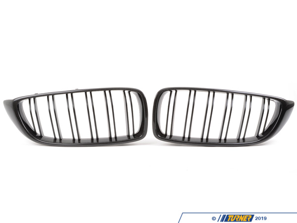 T#224293 - CFG32MBYY - Carbon Fiber Double Slat Center Grills - F80 M3, F82 M4, F32 4 series - Turner Motorsport - BMW
