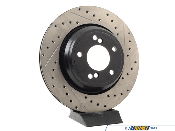 T#300194 - 127.34054L 379 - E46 M3/CSL, Z4 M LEFT REAR SPORTSTOP DRILLED/SLOTTED ROTOR - Centric -
