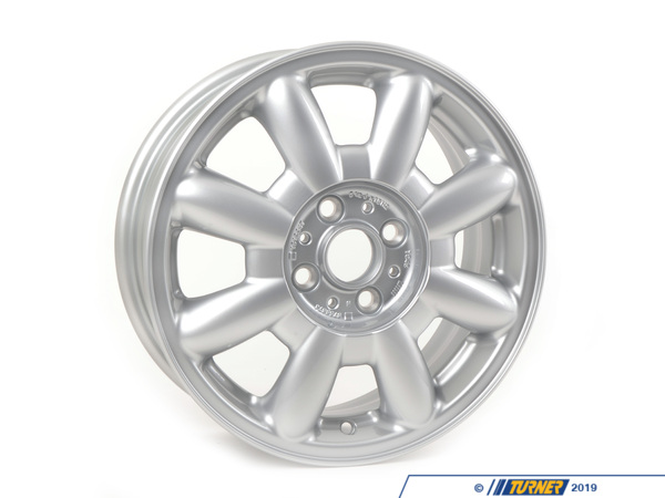 T#65443 - 36111512347 - Genuine MINI Light Alloy Rim, Silver 51/2Jx15 Et:45 - 36111512347 - Genuine Mini -