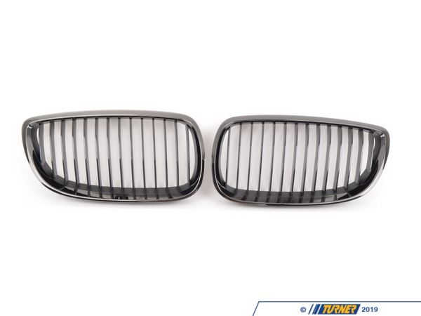 T#2311 - 51137979349-350 - Genuine BMW Black Chrome Front Grill Set - E90 E92 E93 - Genuine BMW - BMW