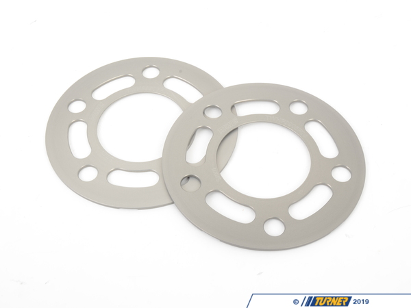 "T#215364 - TWHF9905F04 - Turner BMW 3mm Big Pad Wheel Spacers (Pair) - Most BMWs (see applications) - 3MM (.12 inch) Wheel Spacer for ""Big Pad"" BMW wheels (E36, E38, E46, E60, E63, E82, E83, E87, E90, E91, E92, E93 (E9X), Z3, Z4)These are our Big Pad wheel spacers designed for the latest generation of factory BMW wheels. The ""wheel pad"" is the back of the wheel that mounts to the hub on the car. Since the early 2000s the factory BMW wheel pad diameter has grown - 150mm, 152mm, 154mm, and now 156mm. Most of the wheel spacers on the market are 152mm. Using the smaller spacer on a large pad the difference will leave an unsightly step down between the back of the wheel and the brake rotor hat (see image). To fix this visual defect we use a larger diameter spacer - the Big Pad. This will have less of a step, or no step at all, when used with the larger pad size. Note that nearly all aftermarket wheel manufacturers use the smaller pad size (mainly to reduce unsprung weight). For more information on wheel pad sizes and their effects on fitment and strength, click to our spacers FAQ page.Wheel spacers are the ideal solution to resolve a number of fitment and aesthetic problems. A spacer fits between the wheel and the hub assembly. The wheel will be pushed further outboard by the thickness of the spacer. Spacers allow you to correct wheel offset issues when the wheel is too 'tucked in' to the bodywork, clear the wheel from contact with the suspension or inner bodywork, clear larger brakes, improve handling and stability by increasing track width, or simply to get the right look and stance. Our wheel spacers are compatible with almost any type of BMW wheel and are a direct fit to the wheel hub (see below for any fitment notes). Longer wheel bolts or wheel studs are required.These latest generation of the Turner Motorsport Wheel Spacers represent a total redesign of the wheel spacer concept - a ground-up, clean sheet design based on our years of BMW service and motorsports. We took everything we have learned from our service technicians, customers, and race team crew and built the spacer to beat all spacers. We've been in the BMW wheel spacer business probably longer than anybody and when it came time to make our own spacers, a basic spacer design just wouldn't do. We had to make a spacer that is light weight (for lower unsprung mass), has a tough and durable coating to last through our New England winters, is easily removed (your mechanic will thank you), and is precisely engineered and manufactured for a proper fit on the hub and in the wheel. You won't find a better engineered wheel spacer on the market!Turner Wheel Spacer Features+ hub-centric design, 1-piece spacer+ precise tolerance fitment thanks to CAD process and CNC mill machine+ large pad surface area - 156mm vs standard 150mm+ aerospace grade aluminum  light weight but very strong with a high resistance to corrosion+ additional military-spec hardcoat for further corrosion resistance+ innovative Quick Release pockets for easy removal (better than a chamfered back edge)+ laser engraved size and part number for easy identification+ stealthy anthracite or black color+ optional extended bolt sets in factory-matching black or bright silver finish (wheel stud kits also available)+ Turner Motorsport track and street tested!+ Made in the USAWheel Spacer Tech & FAQHow To Measure for SpacersWheel Spacer Encyclopedia - everything you wanted to knowSpacer Specsbolt pattern:      5 x 120center bore:      72.6mmhubcentric?      yeswheel pad size:      largeExtended Wheel Bolts      Required for all BMW wheel spacers is a set of longer wheel bolts or wheel studs. Spacers cannot be used with stock bolts. Our extended lug bolts are a very high quality and high grade steel lug bolt (grade 10.9). We offer two finishes to get you just the right look with your wheels - black zinc to maintain a factory BMW appearance or a bright zinc nickel finish to go with polished wheels. Zinc finishes are designed to withstand 700 hours of salt spray testing.   3mm spacer note: a 3mm spacer uses up 3mm of space on the existing hub lip. The wheel will have 3mm less hub surface for a secure fitment. Therefore, wheels that have a bevel around the center bore will not engage the hub lip and may reseult in a vibration.+ Year & Model Applications(click to expand)    2008+  E82 BMW 128i 135 1M1992-1998  E36 BMW 318i 318is 318ti 318ic 323is 323ic 325i 325is 325ic 328i 328is 328ic M31999-2005  E46 BMW 323i 323ci 325i 325ci 325xi 328i 328ci 330i 330ci 330xi M32006-2011  E90 BMW 325i 325xi 328i 328xi 328i xDrive 330i 330xi 335d 335i 335xi 335i xDrive M3 - Sedan2006-2012  E91 BMW 325xi 328i 328xi 328i xDrive - Wagon2007-2012  E92 BMW 328i 328xi 328i xDrive 335i 335is 335xi 335i xDrive M3 - Coupe2007-2012  E93 BMW 328i 335i M3 - Convertible2004-2010  E60 BMW 525i 525xi 530i 530xi 528i 528xi 528i xDrive 535i 535xi 535i xDrive 545i 550i M52004-2010  E63 BMW 645ci 650i M61995-2001  E38 BMW 740i 740il 750il1997-2002  Z3  BMW Z3 1.9 Z3 2.3 Z3 2.5i Z3 2.8 Z3 3.0i M Roadster M Coupe2003-2008  E85 BMW Z4 2.5i Z4 3.0i Z4 3.0si Z4 M Roadster M Coupe2009+  Z4 BMW Z4 sDrive28i Z4 sDrive30i Z4 sDrive35i Z4 sDrive35is - Turner Motorsport -"