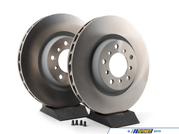 T#2260 - TMS2260 - Front Brake Rotors - Original BMW - E46 M3 (Pair) - Original BMW E46 M3 Front Brake rotors/discs (Left and Right Pair). This pair of Original Equipment rotors, BMW part numbers 34 11 2 229 529 and 34 11 2 229 530. These are the standard US-spec rotors, as originally fitted to the 2001-2006 US market M3 (Euro rotors were 2-piece and cross-drilled).This item fits the following BMWs:2001-2006  E46 BMW M3, M3 Convertible - except ZCP/CSL package - Genuine BMW - BMW