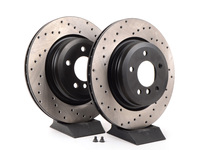 Cross-Drilled Brake Rotors - Rear - E90 330i/Xi, E9X 335i/Xi (pair)