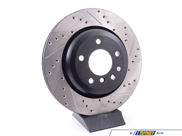 T#300198 - 127.34057L 073 - E46 330i/Ci/iX LEFT REAR SPORTSTOP DRILLED/SLOTTED ROTOR - Centric -