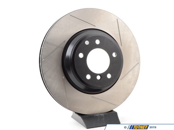 T#300154 - 126.34093SL 729 - E9X 335i/xi/d LEFT FRONT SPORTSTOP SLOTTED BRAKE ROTOR - Centric -