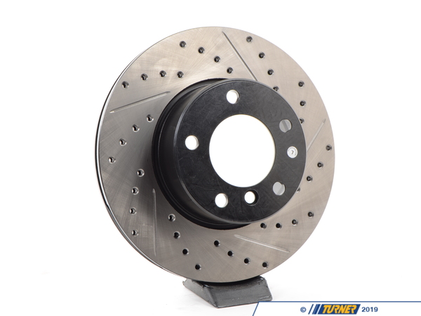 T#300184 - 127.34045L 839 - E39 525i all, E39 528i -00 LEFT FRONT SPORTSTOP DRILLED/SLOTTED ROTOR - Centric -