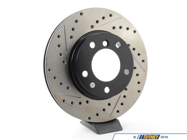 T#300173 - 127.34029R 282 - E36 ALL (EXCEPT Ti, M3), E46 323 (EXCEPT iC, iT), Z3 2.5/2.8, Z4 2.5 RIGHT FRONT SPORTSTOP DRILLED/SLOTTED ROTOR - Centric -