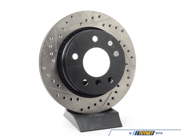 T#300183 - 127.34044R 211 - E36 323iC/328iC, E46 323 ALL RIGHT REAR SPORTSTOP DRILLED/SLOTTED ROTOR - Centric -