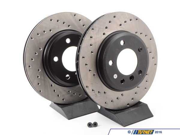 StopTech Cross-Drilled Brake Rotors - Front - E46 325i/328i, Z3 3.0, Z4 3.0i  (pair) 34111164539CD
