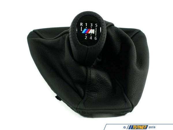 T#52986 - 25118036628 - Genuine BMW Leather Shift Knob With Boot - 25118036628 - Schwarz/M - Genuine BMW -