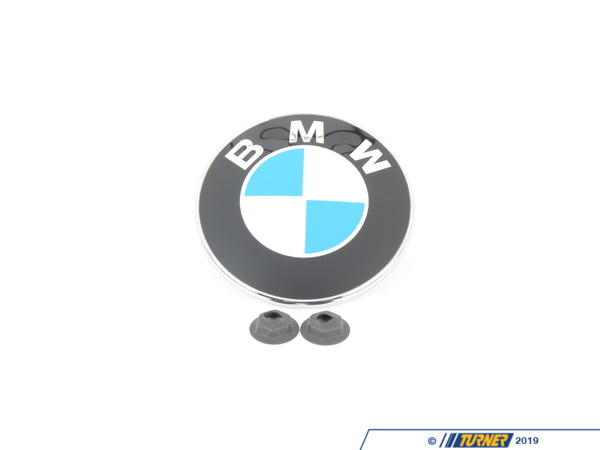 Genuine BMW BMW Hood Emblem with Nuts For E85 E89 - Z4 51147044207N