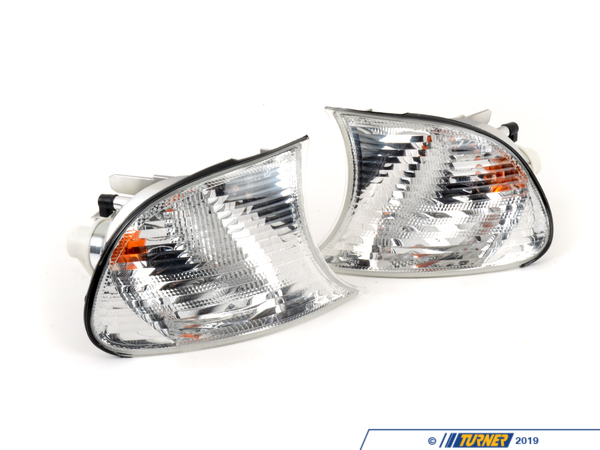 Turner Motorsport Front Turn Signals (Pair) - Euro Clear - E46 Coupe, Convertible TMS3858