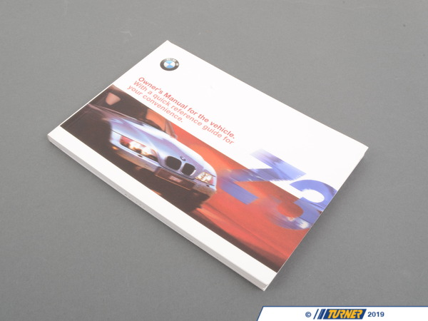 Genuine BMW Genuine BMW Owner's Handbook Z3 E36/7 01419791397 01419791397