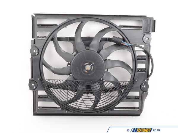 T#4556 - 64546921383 - Electric Auxiliary Fan - E38 1999-2001, Z8 - This electric auxiliary fan for BMW E38 7 series 1999-2001 and BMW Z8, mounts in front of the radiator and is designed to push air through the A/C Condenser and main radiator.  It provides additional cooling for when the car is in traffic.  It is a common failure item. If your engine temps are creeping up or if your A/C isn't blowing cold this could be the cause. This item fits the following BMWs:1999-2001  E38 BMW 740i 740il 750il2000-2003  E52 BMW Z8 Roadster - Genuine BMW - BMW