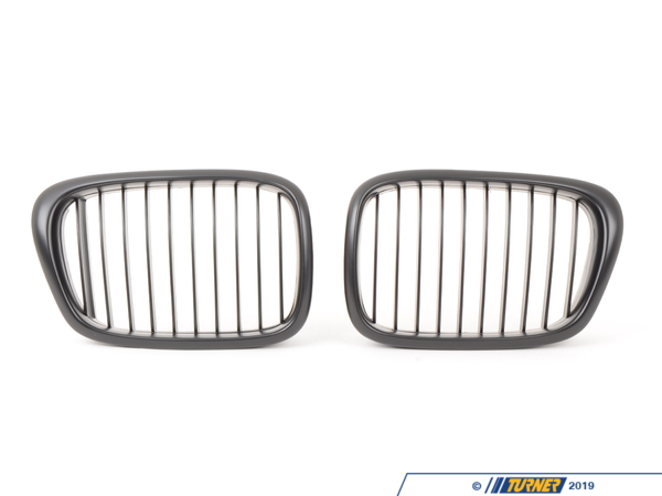 T#1596 - BME-1601-3000 - Black Center Grills - E39 525i 528i 530i 540i M5 - ECS - BMW