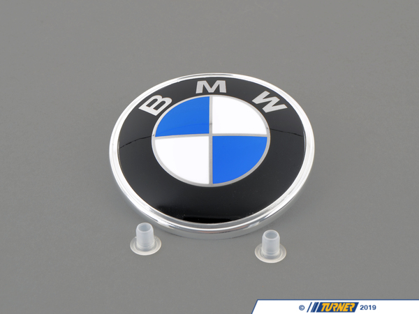 Genuine BMW BMW Trunk Emblem with Grommets For E28, E30, MZ3 51141872969G