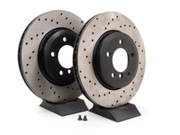 Cross-Drilled Brake Rotors - Front - E46 330i, Z4 3.0Si (pair)