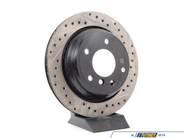 T#300186 - 127.34046L 840 - E39 i/iT (EXCEPT M5) LEFT REAR SPORTSTOP DRILLED/SLOTTED ROTOR - Centric -