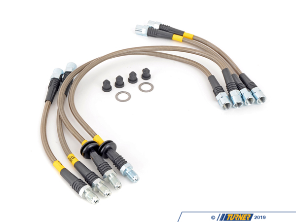 StopTech E36 318ti 6pc. Stainless Steel Brake Line Set PLB318TI