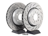 Genuine BMW Cross-Drilled & Floating Brake Rotors - Front - E46 M3 CSL/ZCP TMS1518