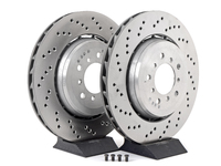 Cross-Drilled & Floating Brake Rotors - Front - E46 M3 CSL/ZCP
