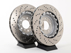 T#1518 - TMS1518 - Cross-Drilled & Floating Brake Rotors - Front - E46 M3 CSL/ZCP - Turner Motorsport - BMW