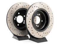 Cross-Drilled Brake Rotors - Rear - E39 M5 & E46 M3 (pair)