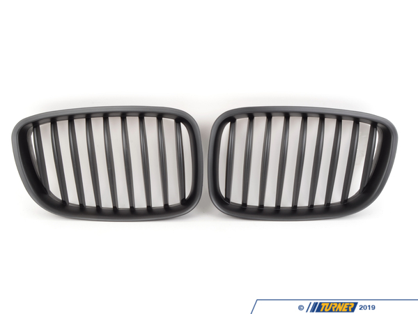 T#11706 - TMS11706 - Black Center Grills - F07 535i GT, 535i xDrive GT, 550i GT, 550i xDrive GT -  These direct replacement center grills let you eliminate the stock chrome kidney / center grills, feature perfect fit and beautiful finish, and give you a darker more aggressive look to your 5 series GT. Kit includes two blacked out grills with matte black finish. Made from impact resistant long life ABS polymer, these grills are precision crafted for a perfect OEM fit. Unlike some competitors blacked-out grills which have a shiny finish that give off a cheap look and feel, these black grills feature a high quality matte finish reminiscent of genuine BMW parts. This item fits the following BMWs:2010+  F07 BMw 535i GT, 535i xDrive GT, 550i GT, 550i xDrive GT - ECS - BMW