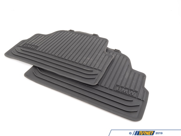 T#180082 - 51472239746 - Genuine BMW Floor Mats, All-Weather, Rear Usa-Anthr. - 51472239746 - Genuine BMW -