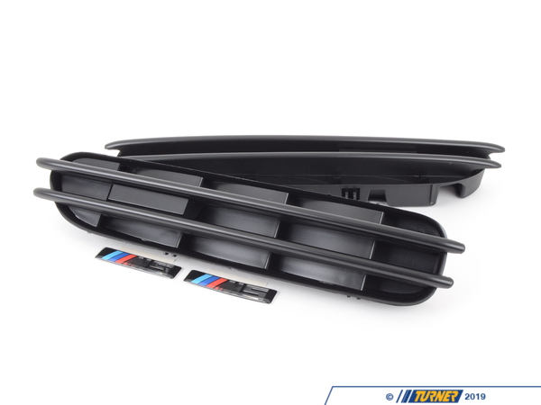 T#1257 - TMS1257 - Black Fender Side Grill Set - E60 M5 - Turner Motorsport - BMW