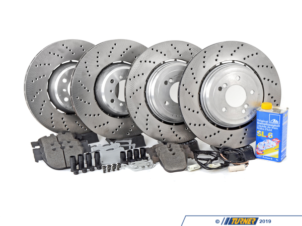 T#338776 - TMS180886 - Complete Front & Rear Brake Package - E60 M5, E63 M6 - Packaged by Turner - BMW