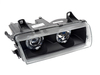 T#3773 - 1AL008875-851 - Hella Euro Angel Eye Headlight Kit With Black Housings for E36 - Hella - BMW