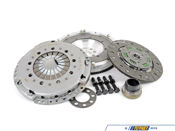 "T#2728 - 520-010S-S874G - E46 M3 HD Clutch and Flywheel Kit - This lightweight aluminum flywheel w/ Heavy Duty ""sprung-hub"" clutch package is the best-engineered solution for the E46 M3. Instead of picking a clutch from another car that may or may not work at all, the engineers at JB Racing have taken all of the guess work out of this upgrade and incorporated a Sachs sport sprung-hub clutch with the correct pressure plate and combined it with their most-popular aluminum lightweight flywheel. The Sachs HD clutch disc has a sprung hub to minimize noise and vibration and organic linings to give the feel and engagement of a stock M3. Mixing and matching of the incorrect clutch, pressure plate, and flywheel components can lead to inconsistent engagement and feel -- why make your clutch feel worse?In addition, the Sachs HD pressure plate will clamp with greater force -- allowing approximately 350 ft-lbs of torque, which makes it an obvious upgrade from the stock clutch kit. And with the aluminum flywheel weight savings is substantial over the stock dual-mass flywheel - which allows your motor to spool up faster and transmit more HP to the ground.Because Sachs is an OE supplier to most German cars, replacement parts are just a phone call away. This kit uses the stock throw-out bearing (included in the price).Sport Clutch and Flywheel Applications:2001-2006 E46 M3 (manual transmission only) - Assembled By ECS -"
