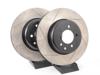 Gas-Slotted Brake Rotors (Pair) - Front - E60 535i, 545i, 550i - E63 645ci, 650i