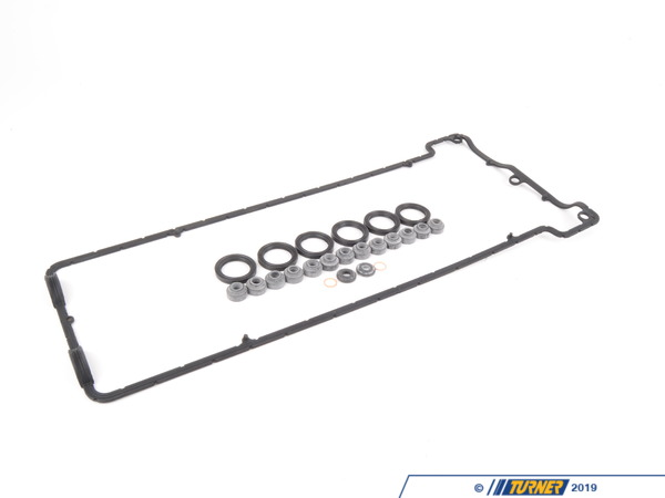 T#1448 - 11127832034KIT - Valve Cover Gasket Kit for S54 Engine - E46 M3, MZ3, Z4 M - For anyone who wants to do the valve adjustment on their E46 M3, weve put together this little package of gaskets and rings that youll need also. This package consists of the valve cover gasket, spark plug hole gaskets, valve cover grommets, and the washers for the oil return line. These gaskets are all OEM parts and the exact same parts as used by our race team. Kit includes:11127832034 x 1 - Valve Cover Gasket 11127831271 x 6 - Spark Plug Hole Gasket11121437395 x 2 - Valve Cover Seal Washer Grommet11127830972 x 13 - Valve Cover Nut Grommet 07119963129 x 2 - PCV Return Line GasketThis Valve Cover Gasket Kit fits the following BMWs:2001-2006 E46 M3 including M3 CSL2006-2008 MZ4 E85 Z4 M Roadster & E86 Z4 M Coupe2001-2002 MZ3, M Roadster, M Coupe - Genuine BMW - BMW