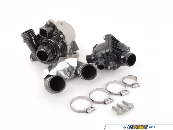 TMS16432 - Water Pump and Thermostat Package - N54 Engine - E82 135i, E9X 335i, E60 535i ...