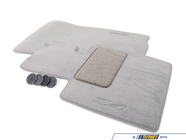 Genuine BMW Genuine BMW Z4 Floor Mats - Grey - Z4 3.0i 2.5i 3.0Si Z4 M Coupe Z4 M Roadster 82110152600