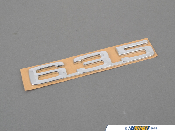 "T#23637 - 51141920779 - Genuine BMW Emblem Adhered Rear ""635"" - 51141920779 - Genuine BMW -"