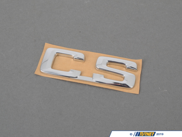 "T#8836 - 51141920776 - Genuine BMW Emblem Adhered Rear ""Cs"" - 51141920776 - Genuine BMW -"